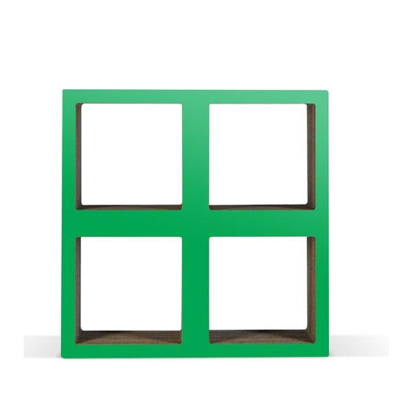 Kartonová knihovnička Bit  Square Green