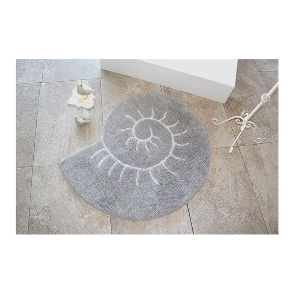 Koupelnová předložka Helix Grey, ⌀ 90 cm