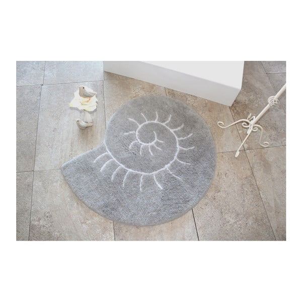 Covor Confetti Bathmats Helix, Ø 90 cm, gri