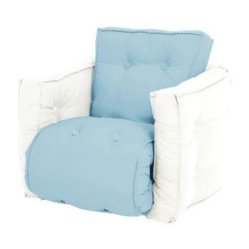 Fotoliu extensibil pentru copii Karup Mini Dice albastru deschis