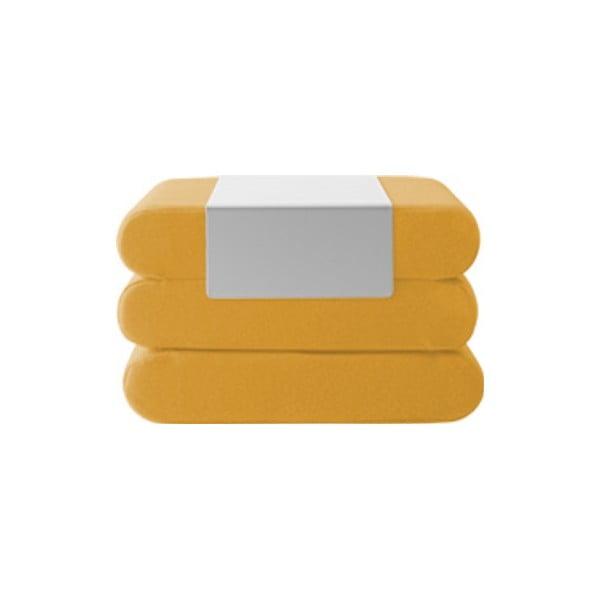 Bingo Eco Cotton Yellow sárga kinyitható puff - Softline