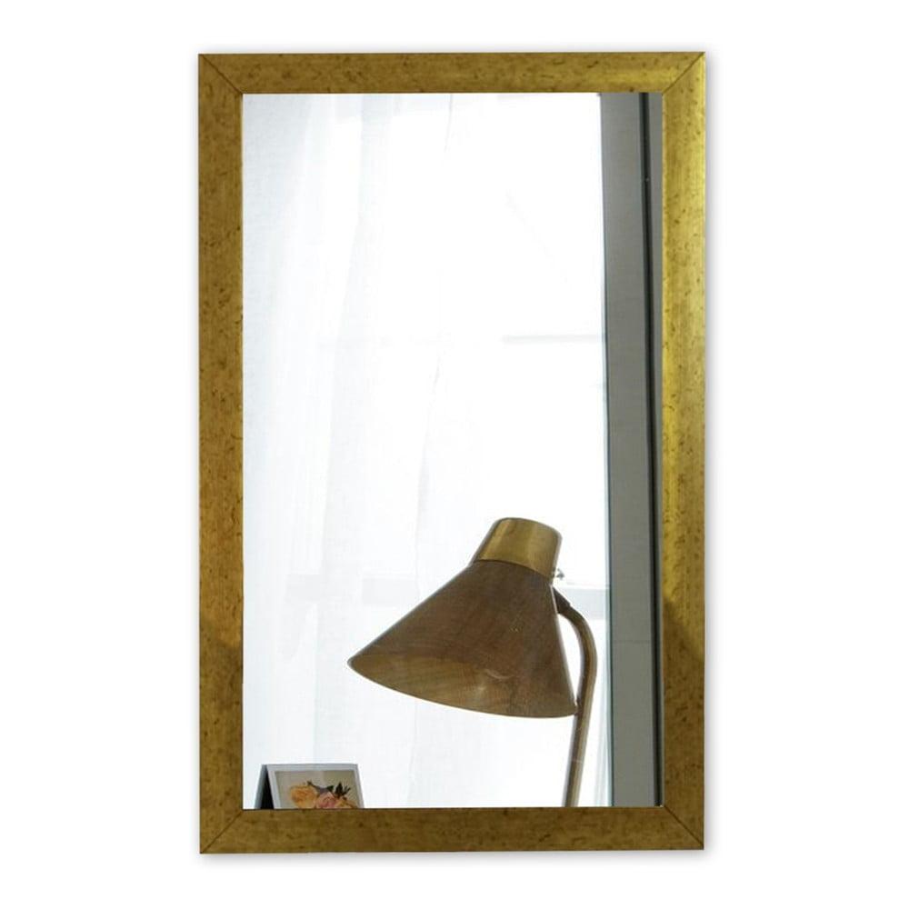 Nástěnné zrcadlo s rámem ve zlaté barvě Oyo Concept, 40 x 55 cm