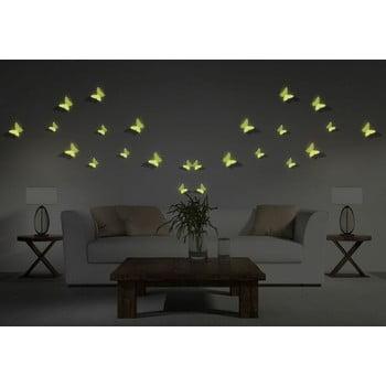 Set 12 autocolante fosforescente 3D Ambiance Butterflies de la Ambiance