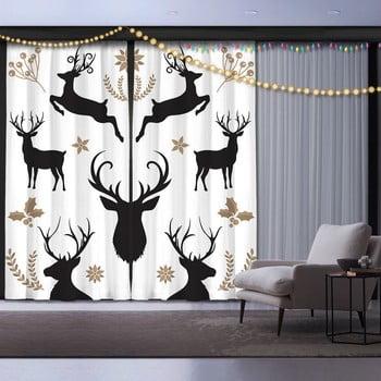Set 2 draperii Crăciun Christmas Deer