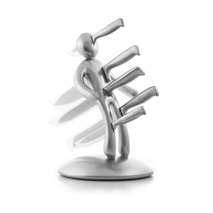 Sada 5 nerezových nožů s blokem ve tvaru postavy InnovaGoods Voodoo