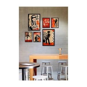 Sada 6 nástěnných obrazů Tablo Center Jazz