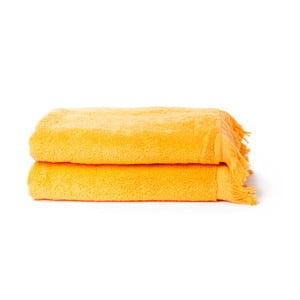 Set 2 prosoape din bumbac Casa Di Bass, 70 x 140 cm, galben