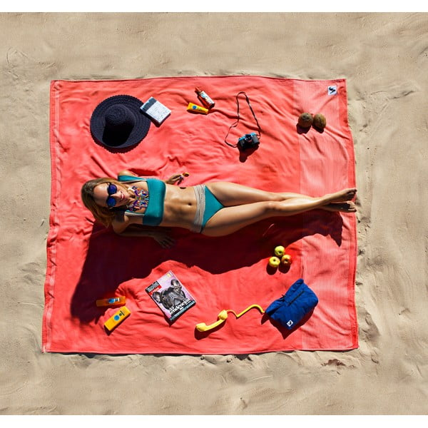 Plážová deka Flat Seat XL Tomato, 200x200 cm