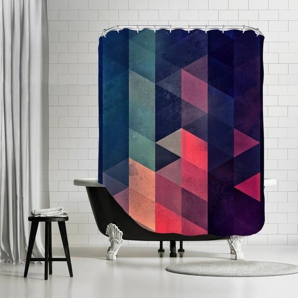 Koupelnový závěs Geometric, 180x180 cm
