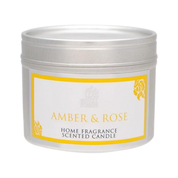 Vonná svíčka Spring Couture  20 hodin hoření, aroma jantar a růže