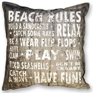 Polštář Beach 45x45 cm, tmavě šedý
