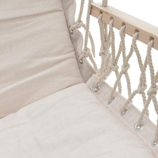Bílé závěsné zahradní křeslo InArt, 100 x 130 cm
