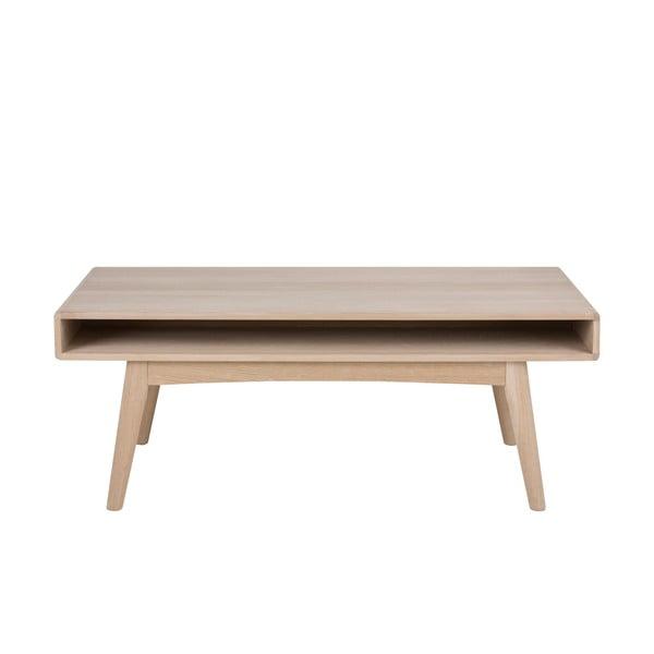 Konferenční stolek s podnožím z dubového dřeva Actona Martel,130x70cm