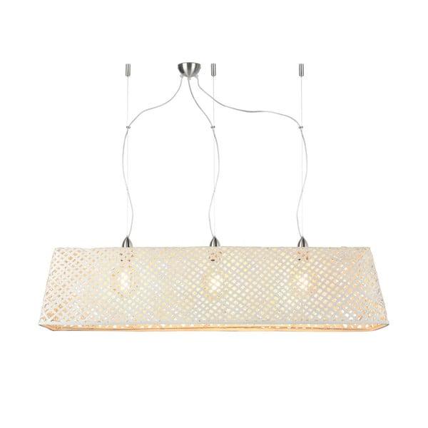 Bílé bambusové závěsné svítidlo Good&Mojo Komodo
