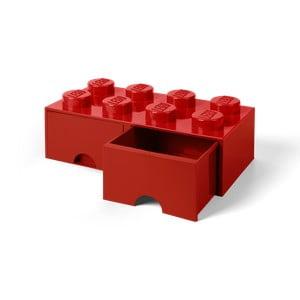 Cutie depozitare cu 2 compartimente LEGO®, roșu
