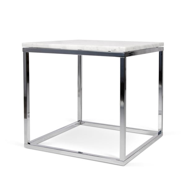 Bílý stolek s dekorem mramoru TemaHome Prairie