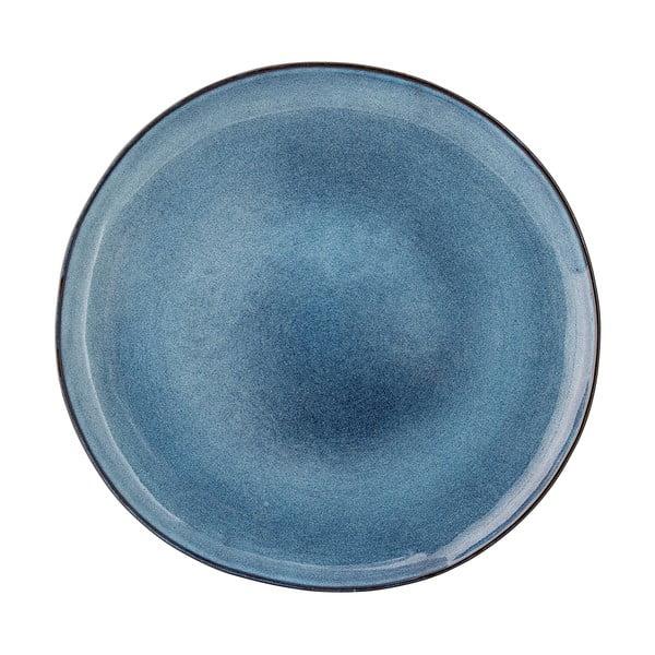 Modrý keramický plytký tanier Bloomingville Sandrine