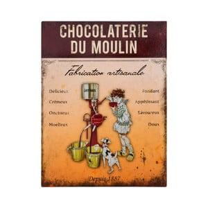 Nástěnná kovová dekorativní cedule Antic Line Chocolaterie