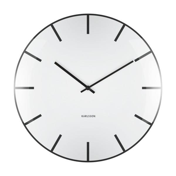 Bílé nástěnné hodiny Karlsson Boxtel & Buijs
