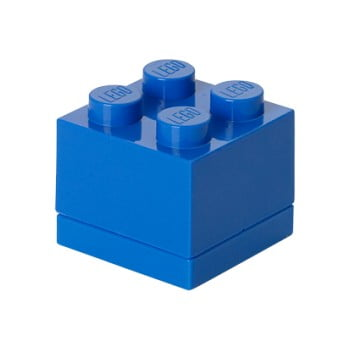 Cutie depozitare LEGO® Mini Box Blue, albastru de la LEGO®