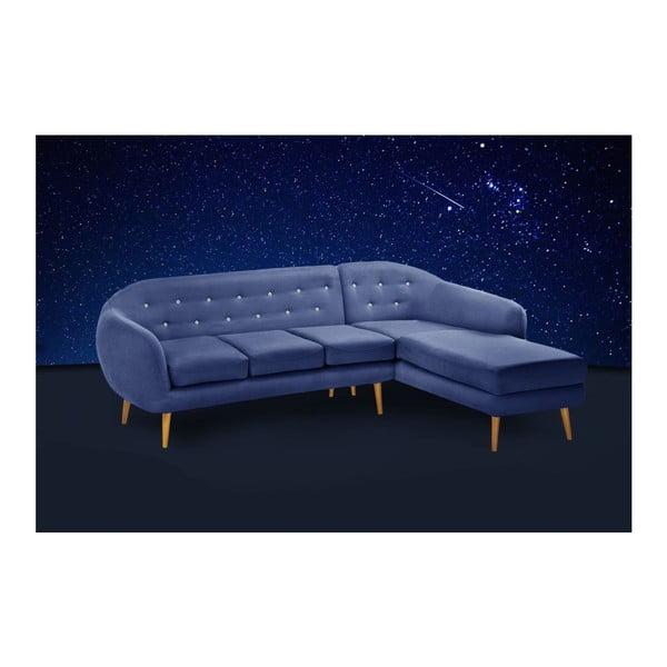 Námořnicky modrá pohovka Constellation s lenoškou na pravé straně