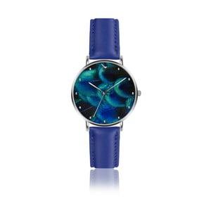 Dámské hodinky s modrým páskem z pravé kůže Emily Westwood