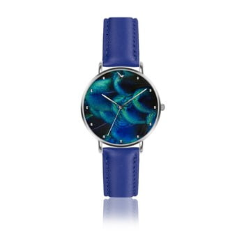 Ceas damă din piele Emily Westwood Dreamy, albastru