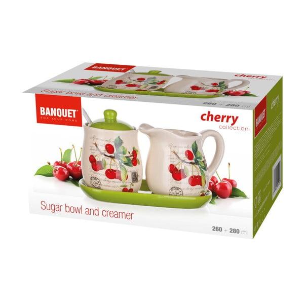 Sada mléčenky s cukřenkou Banquet Cherry, 4ks