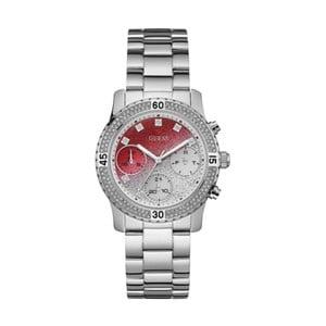 Dámské hodinky ve stříbrné barvě s páskem z nerezové oceli Guess W0774L7