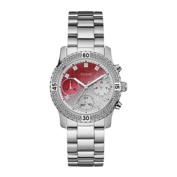 Zegarek damski w srebrnym kolorze z paskiem ze stali nierdzewnej Guess W0774L7