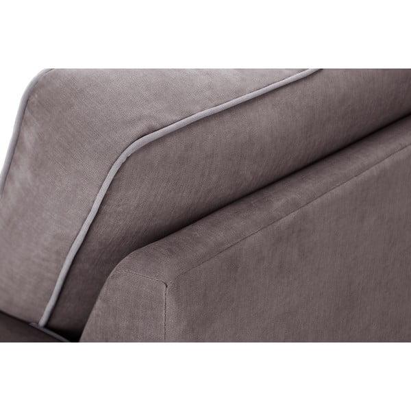 Dvoudílná sedací souprava Jalouse Maison Serena,čokoládová