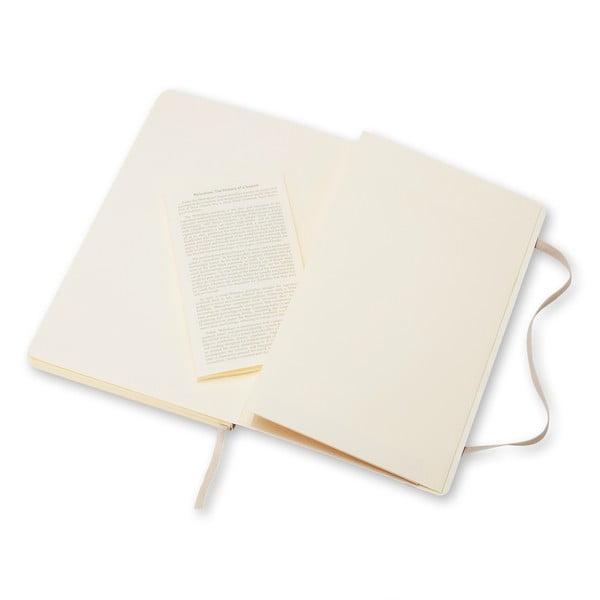Malý béžový zápisník Moleskine Soft, bezlinek