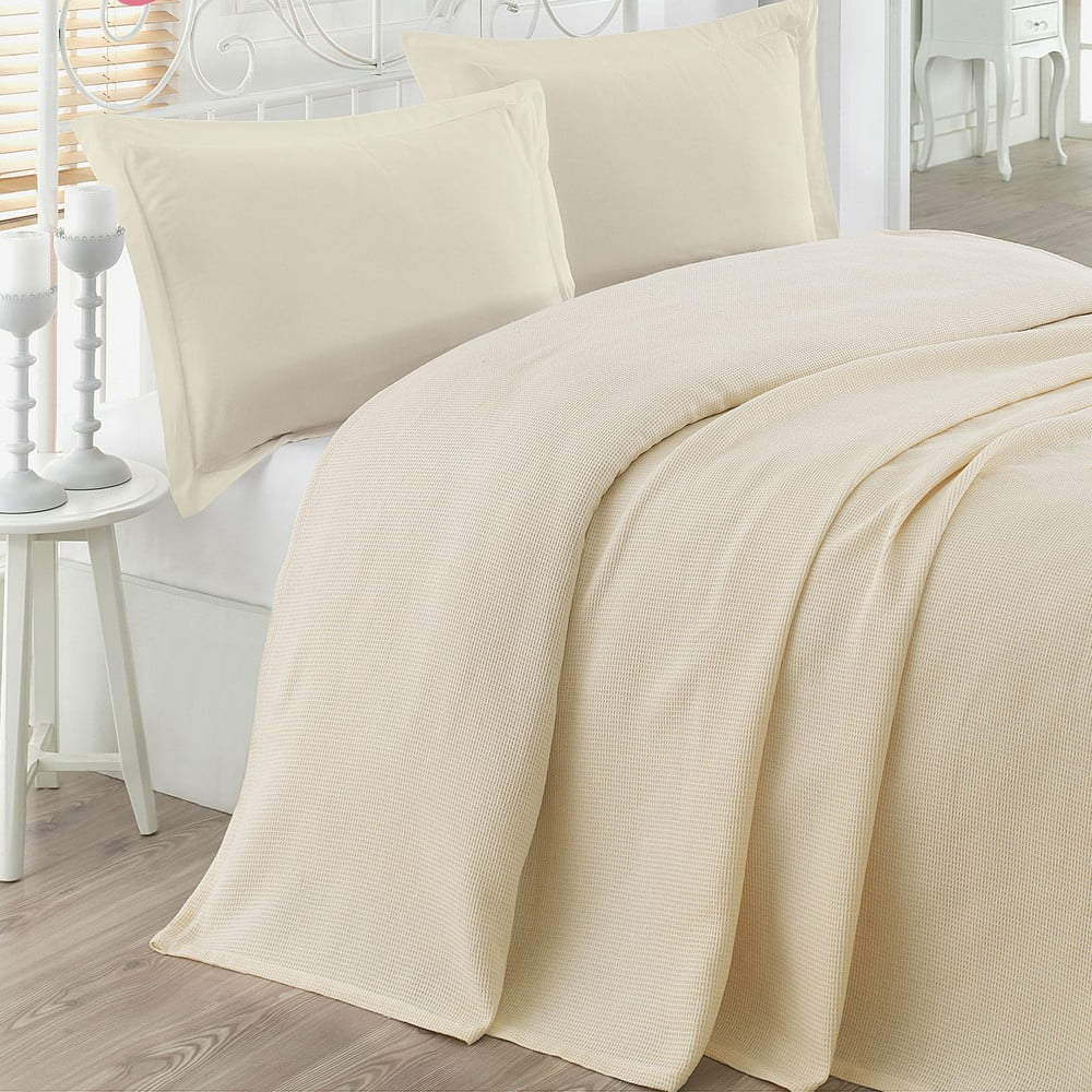 Přehoz přes postel Petek Cream, 200 x 230 cm