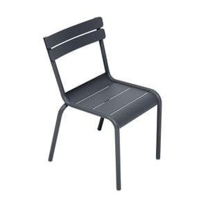 Antracitová dětská židle Fermob Luxembourg