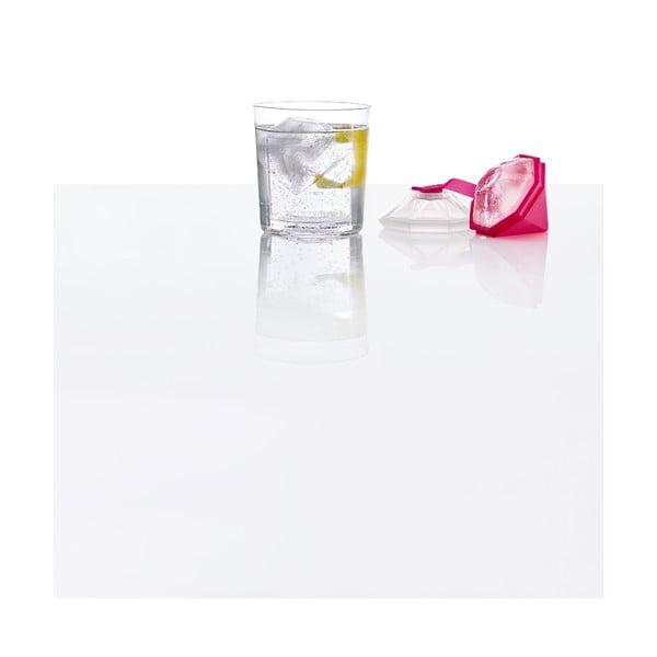 Růžová silikonová forma ve tvaru diamantu Lékué Mold