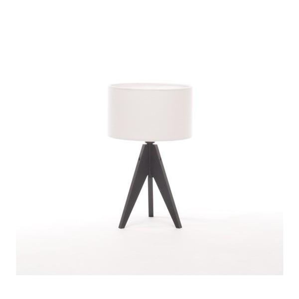 Bílá  stolní lampa Artist, černá lakovaná bříza, Ø 25 cm