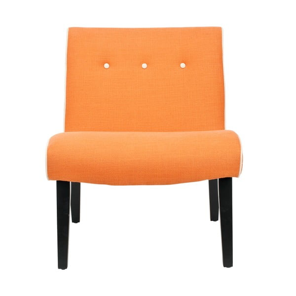 Oranžové křeslo Safavieh Mandel