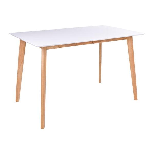 Masă dining loomi.design Vojens, lungime 120cm, alb-natural
