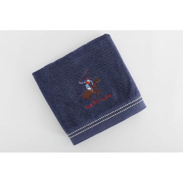 Bavlněný ručník BHPC s výšivkou 50x100 cm, tmavě modrý