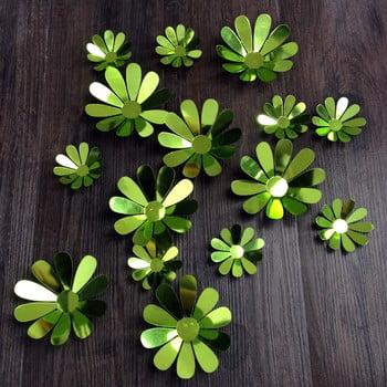 Set 12 autocolante 3D Ambiance Powers Chic, verde de la Ambiance