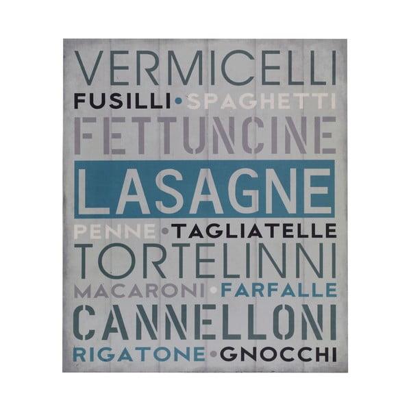 Dřevěný obraz Lasagne, 25x30 cm