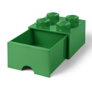 Zelený úložný box se šuplíkem LEGO®