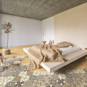 Set 10 autocolante de podea Ambiance Hexagons Luiza, 40 x 90 cm de la Ambiance