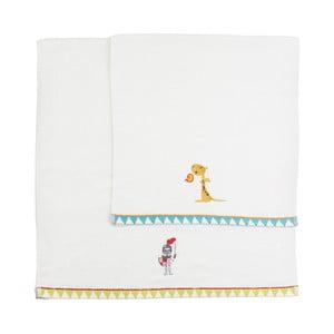 Sada 2 ručníků Mr. Fox Knight, 50x100 cm a 70x140 cm