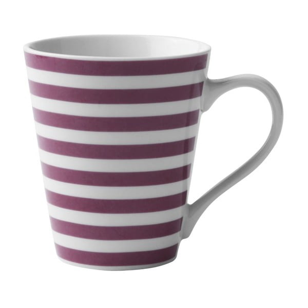 Porcelánový hrnek Purple Striped