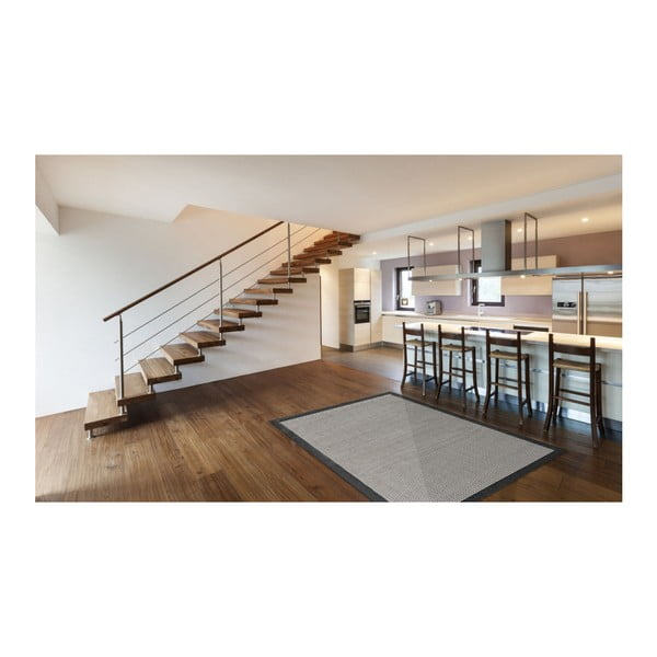 Covor foarte rezistent Floorita Chrome, 160 x 230 cm, negru