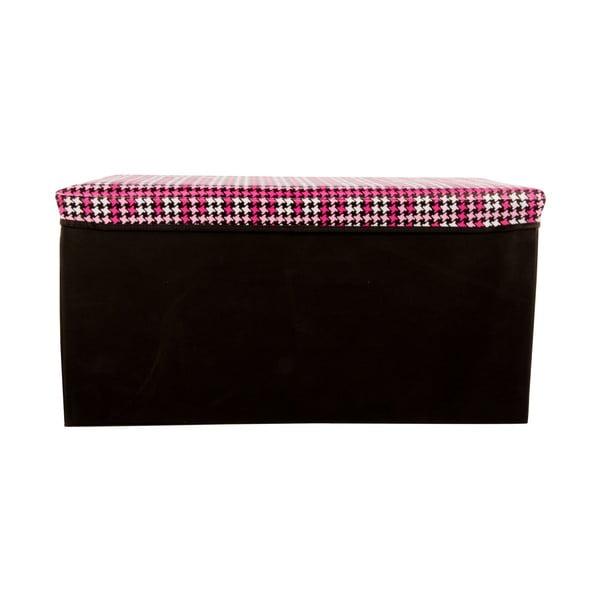 Velká úložná krabice Puff Black, 64x38 cm