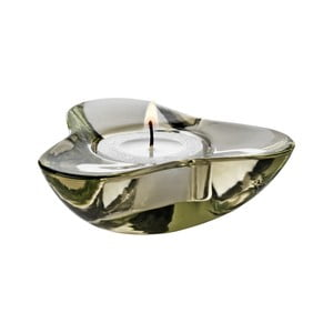 Svícen na čajovou svíčku Aura, olivová