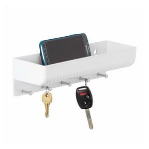Bílý nástěnný držák do předsíně InterDesign Linus Key