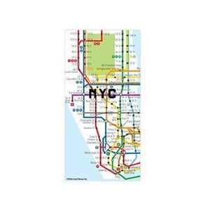 Mapa ve formě magnetů Kikkerland New York